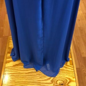After Six Dresses - Sapphire blue strapless formal dress